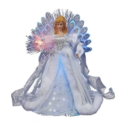 Kurt Adler LED Fiber Optic Angel Figurine, 12-Inch