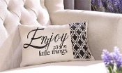 Decorative Throw Pillow, Enjoy All The Little Things