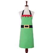 Bright Green Elf Design Kitchen Apron