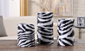 Gift Craft LED Zebra Print Wax Candle Holder Set