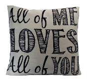 "Ganz 16"" x 16"" All Of Me Loves All Of You Throw Pillow"