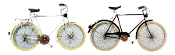 Hanna's Handiworks Bicycle Wall Art, White or Black Design