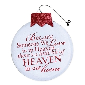 Little Bit Of Heaven Christmas Metal Wall Plaque