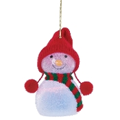 Wonder Ball Snowman Red Knit Hat