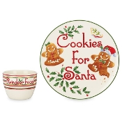 Countdown to Christmas for Santa Cookie Plate and Bowl Set