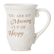 French Perle You Are My Morning Cup Of Happy Mug