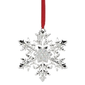 Snow Majesty Silver Snowflake Ornament