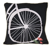 Bicycle Wheel Design Throw Pillow