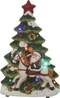 Ceramic Light Up Music Christmas Tree