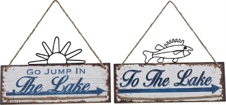 Lake House Novelty Signs, Two Different Designs