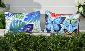 Decorative Outdoor Pillows, Butterfly or Leaf Design