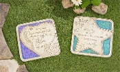 Colorful Memorial Stepping Stones, Two Different Designs