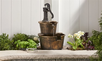 Outdoor Waterpump Design Fountain