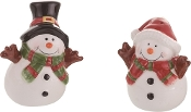 Ceramic Snowmen Salt and Pepper Shakers