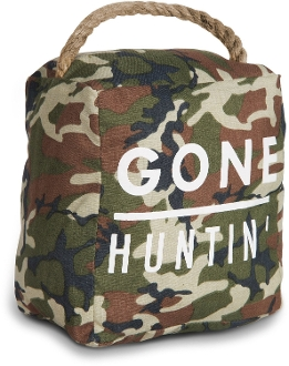 Open Door Decor - Gone Huntin' Camo Door Stopper