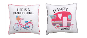 Life Is A Beautiful Ride, Happy Camper Throw Pillows