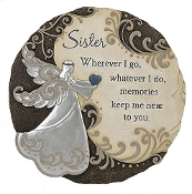 "Memorial Stepping Stone Wall Plaque 11"" - Sister"
