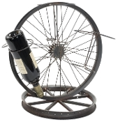 Bike Wheel Metal Wine Bottle Holder