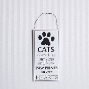 8x4x.25 wood sign (CATS) white/black