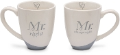 Wedding Couples Mugs: Mr. Right & Mr. Always Right (Set of 2)