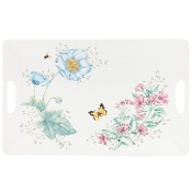 Lenox Butterfly Meadow Melamine Serving Tray, Large, White