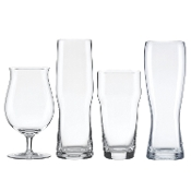 Lenox Tuscany Craft Beer Glass Collection Assorted Set, clear