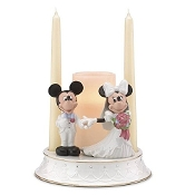 Lenox Mickey and Minnie Unity Candle Holder with Gold Accents