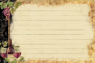Gilded Wine Recipe Cards