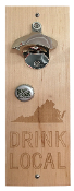 "State of Mine ""Drink Local"" Bottle Opener Virginia"