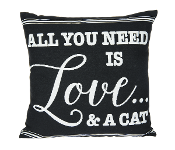 All You Need is Love and A Cat, Throw Pillow