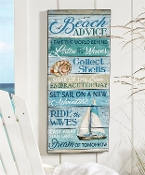 Beach Design Advice Wall Plaque