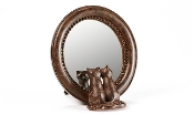 Gift Craft Oval Mirror with Two Cats, Mini