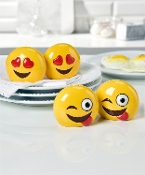 Emoji Design Salt and Pepper Shaker Set, Two Different Designs