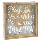 Shadow Box, Please Leave Your Wishes For the New Mr. & Mrs.