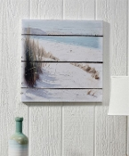 Wooden Canvas Beachfront Design Print