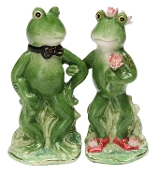 Alfrogo and Frogalina Frog Salt and Pepper Set