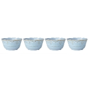 Lenox French Perle Melamine Blue All Purpose Bowls, (Set of 4)