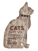 Cats Have Two Lives, Theirs and Ours, Decorative Plaque