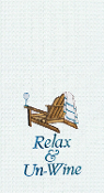 "Relax & Un-Wine Kitchen Towel, 18""X27"""