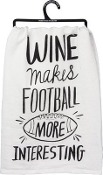 Kitchen Towel - Wine Makes Football More Interesting