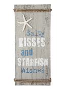 Rustic Shore - Salty Kisses and Starfish Wishes Wall Sign