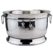 Stainless Steel Double Walled Party Tub with Tie Knot