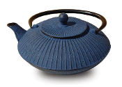 "Cast Iron ""Fidelity"" Teapot, 27 Oz. - Blue"