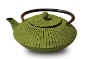 "Cast Iron ""Fidelity"" Teapot, 27 Oz. - Moss Green"