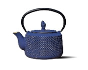 Old Dutch International Matsukasa Cast Iron Teapot - Deep Blue