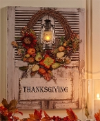 Thanksgiving Design Canvas Print with LED Lights