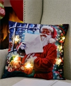 LED Lighted Christmas Design Pillow