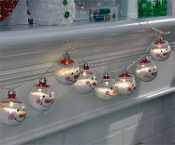 LED Lighted Snowman Design Garland
