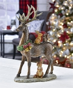 Christmas Deer and Friends Figurine