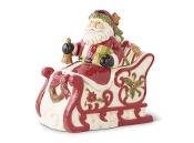 Santa on Sleigh Cookie Jar